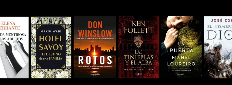 6 Novedades editoriales para septiembre: novela negra, histórica y narrativa